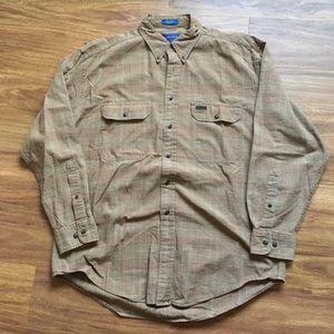 Tan brown Pendleton flannel
